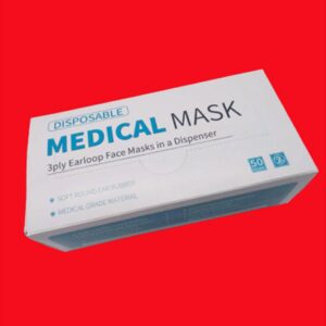 3Ply Medical Grade Type 1 Face Masks, 50 Pack